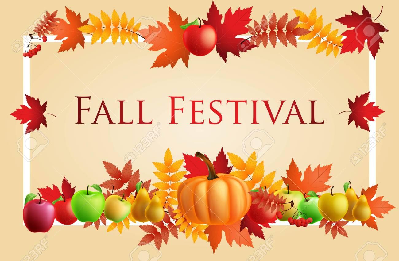 Fun Fall Festival Invitation Flyer. - 63829667