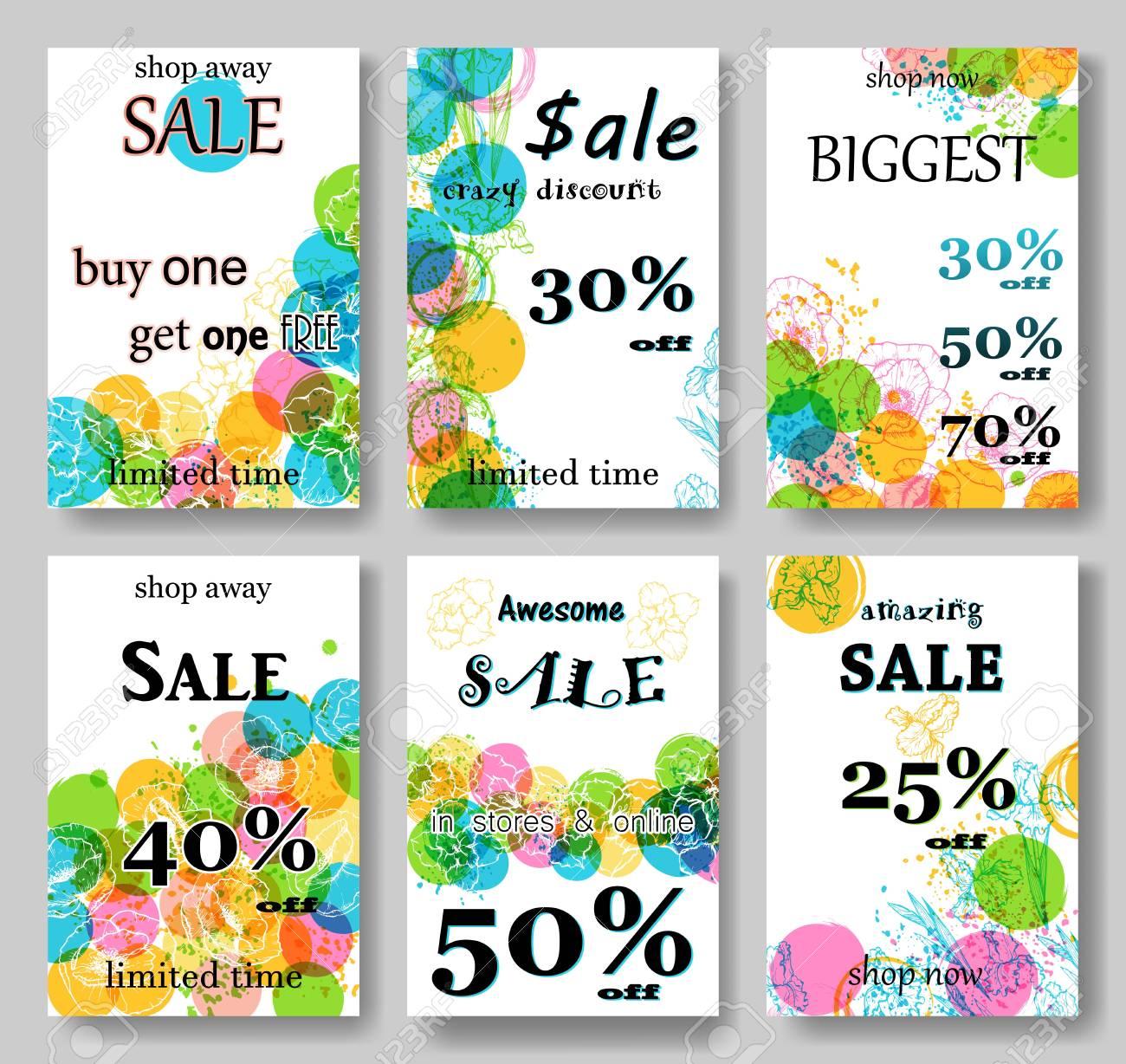 modern eye catching social media sale banners illustrations stock