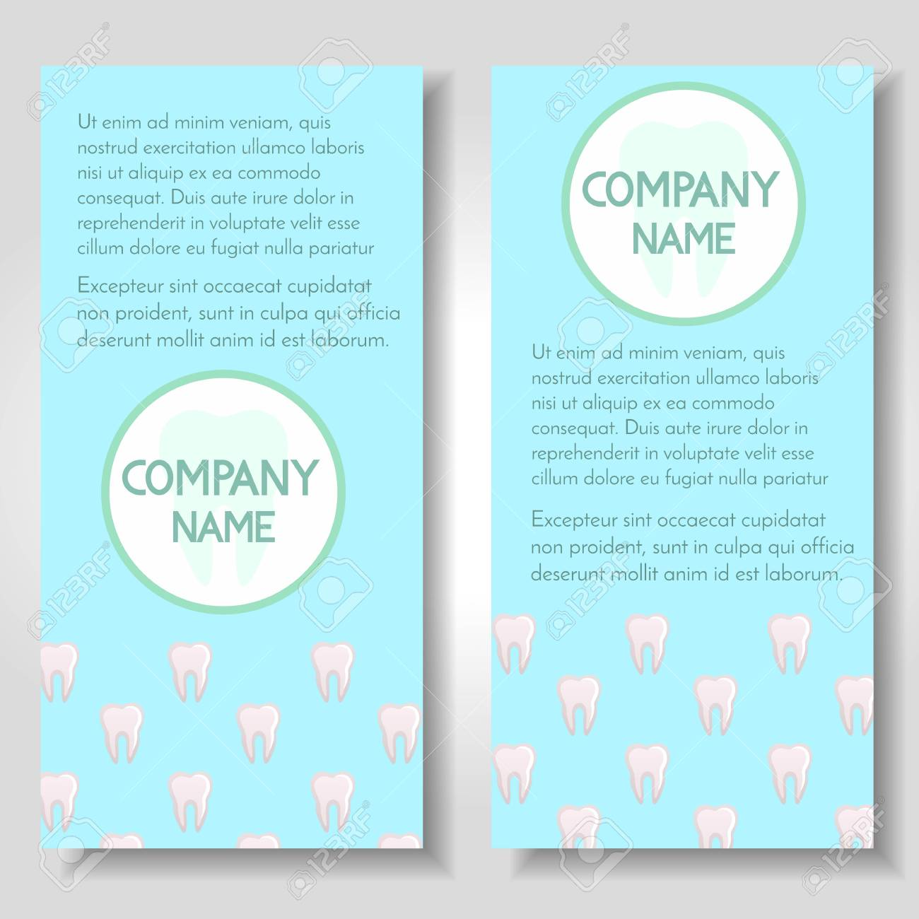 Set of 2 banners about dental care,stomatology clinic and  orthodontics,dental hygiene and