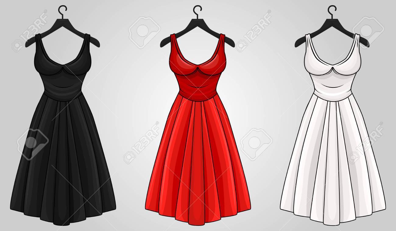 Cartoon Red Dresses