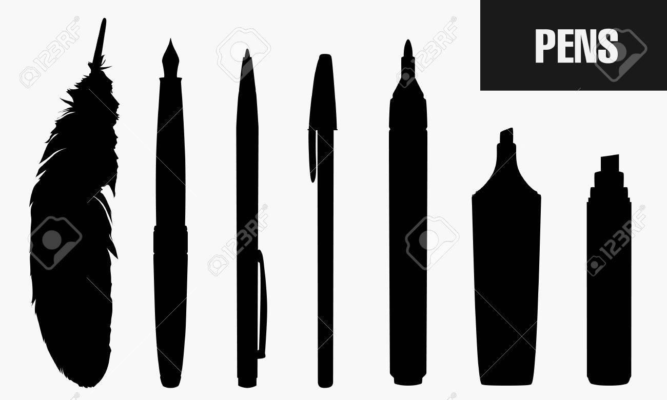 Pens Stock Vector - 15555252