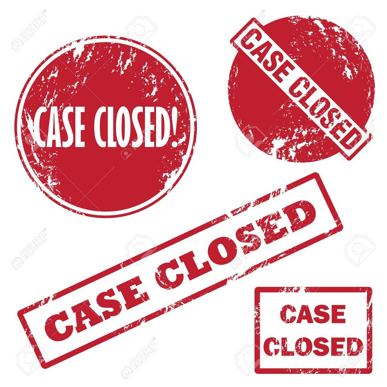 Case closed rubber stamp Stock Vector - 17986730