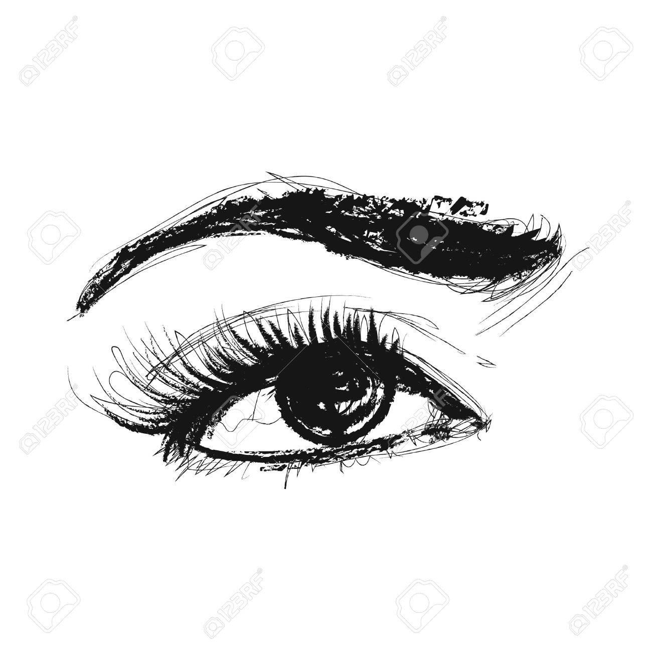 Eye vector pencil drawing Stock Vector - 27523751