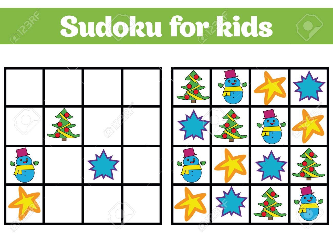 Juego De Sudoku Para Ninos Con Imagenes Juego De Logica Para Ninos