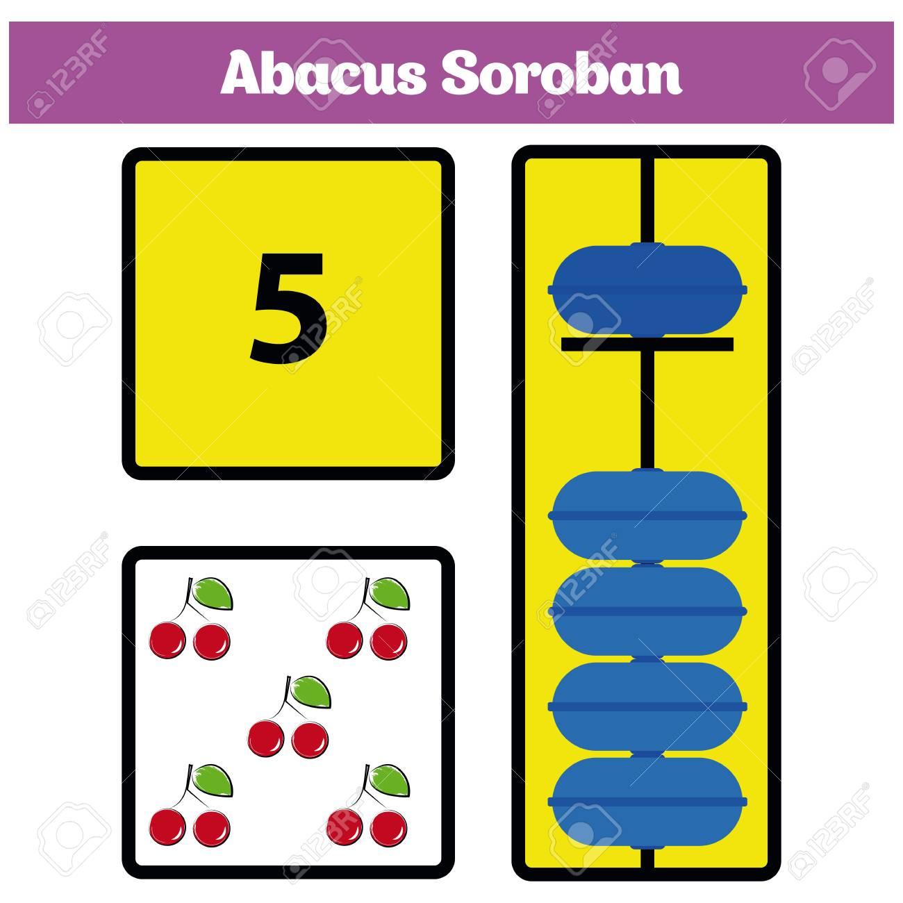 Los Niños De Abacus Soroban Aprenden Números Con ábaco, Hoja De ...