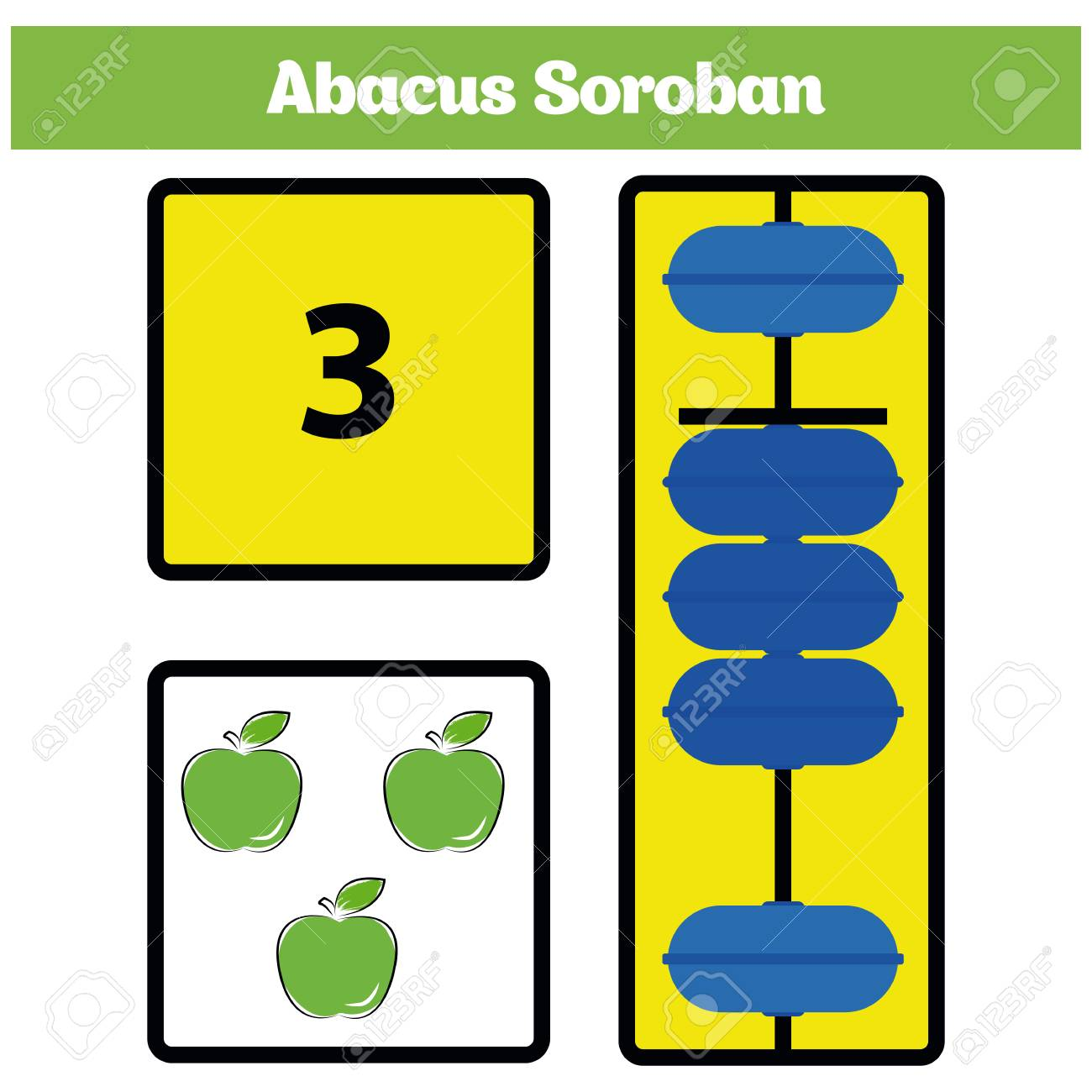Worksheets Abacus Math Worksheets abacus soroban kids learn numbers with math worksheet for children vector illustration stock vector