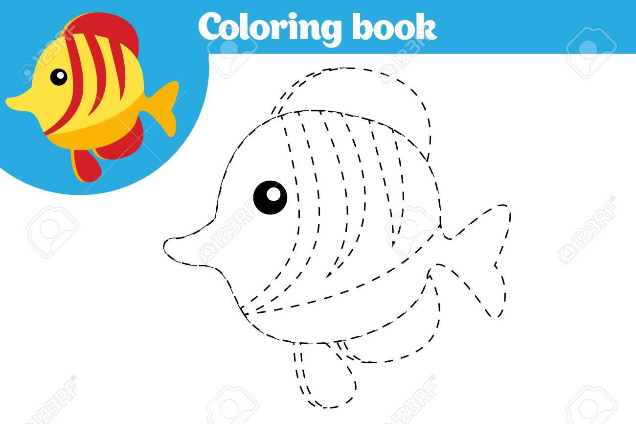 Página Para Colorear, Juego De Educación Para Niños. Página Para ...