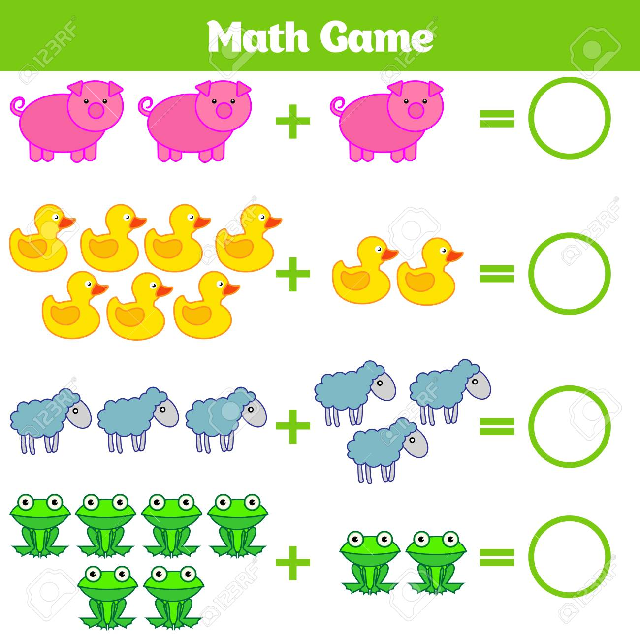Mathematics Educational Game For Children. Learning Subtraction ...