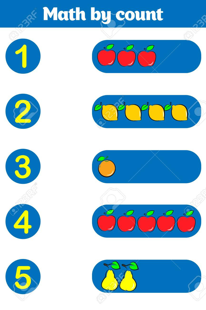 Counting Game for Preschool Children. Educational a mathematical..