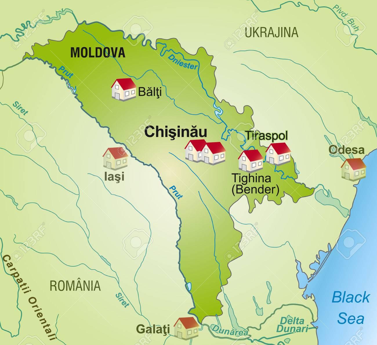 Moldawien Karte.Stock Photo