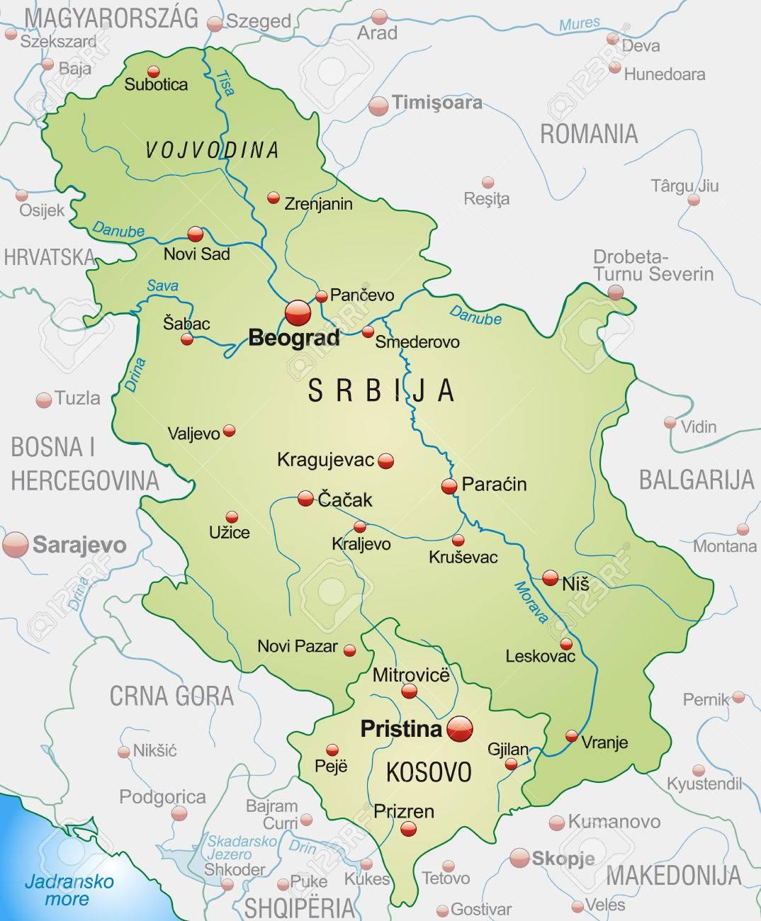 Novi Sad Stock Illustrations Cliparts And Royalty Free Novi - Novi sad map