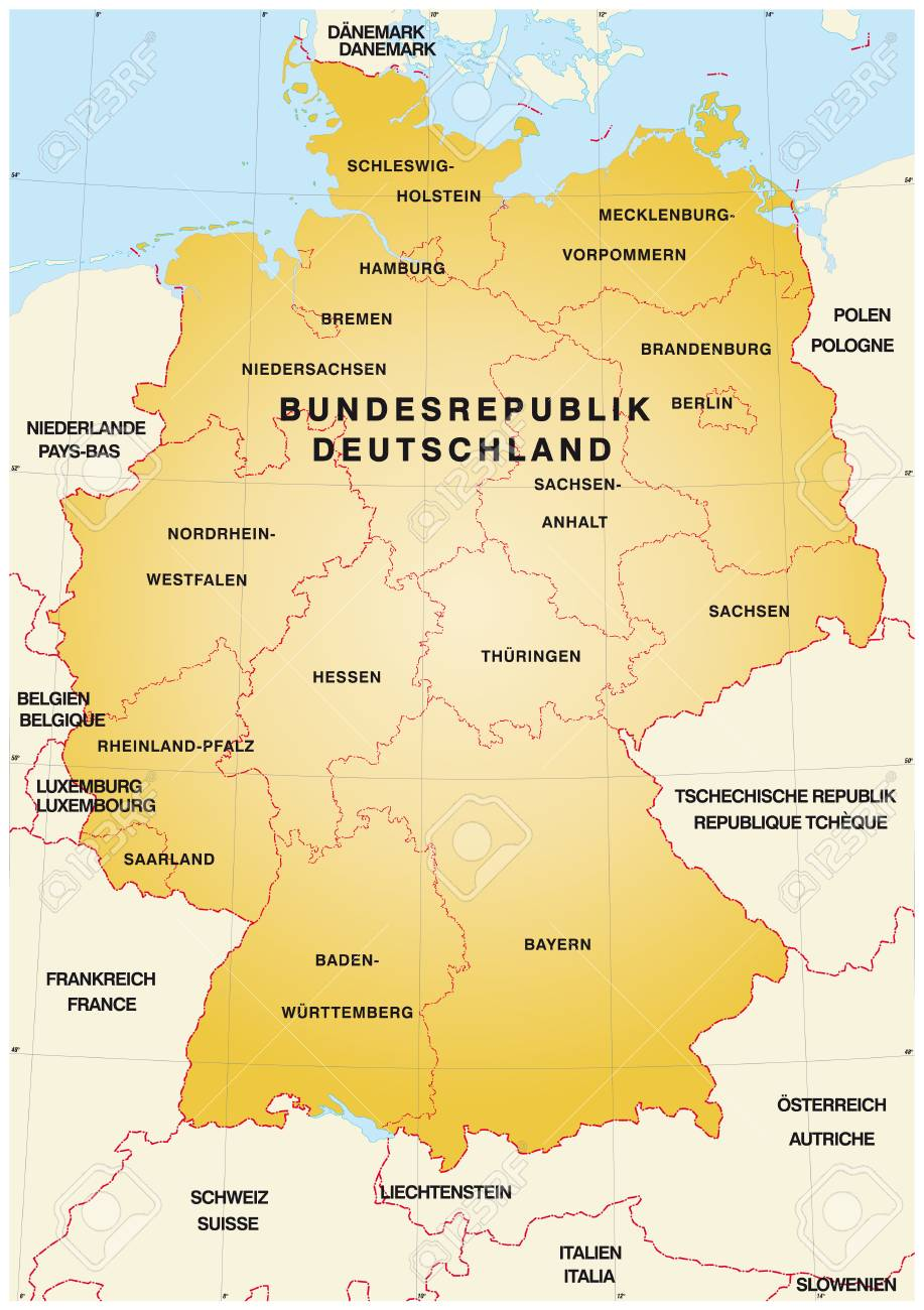 Map Of Germany France Border.Map Of Germany With Borders