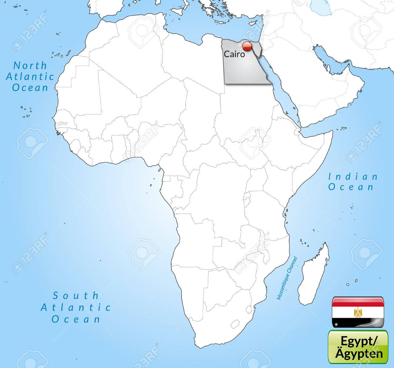 Map Of Egypt With Main Cities In Gray Royalty Free Cliparts, Vectors ...