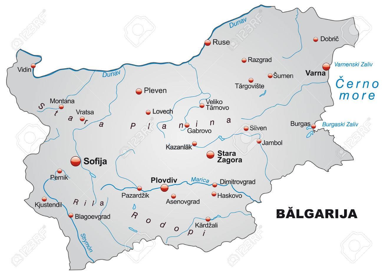 Karte Bulgarien.Stock Photo