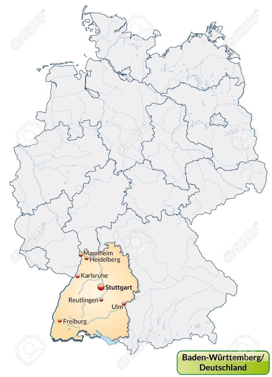 Karte baden württemberg städte in Städte des