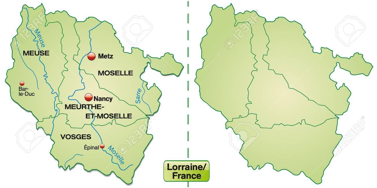 Lothringen Karte.Stock Photo