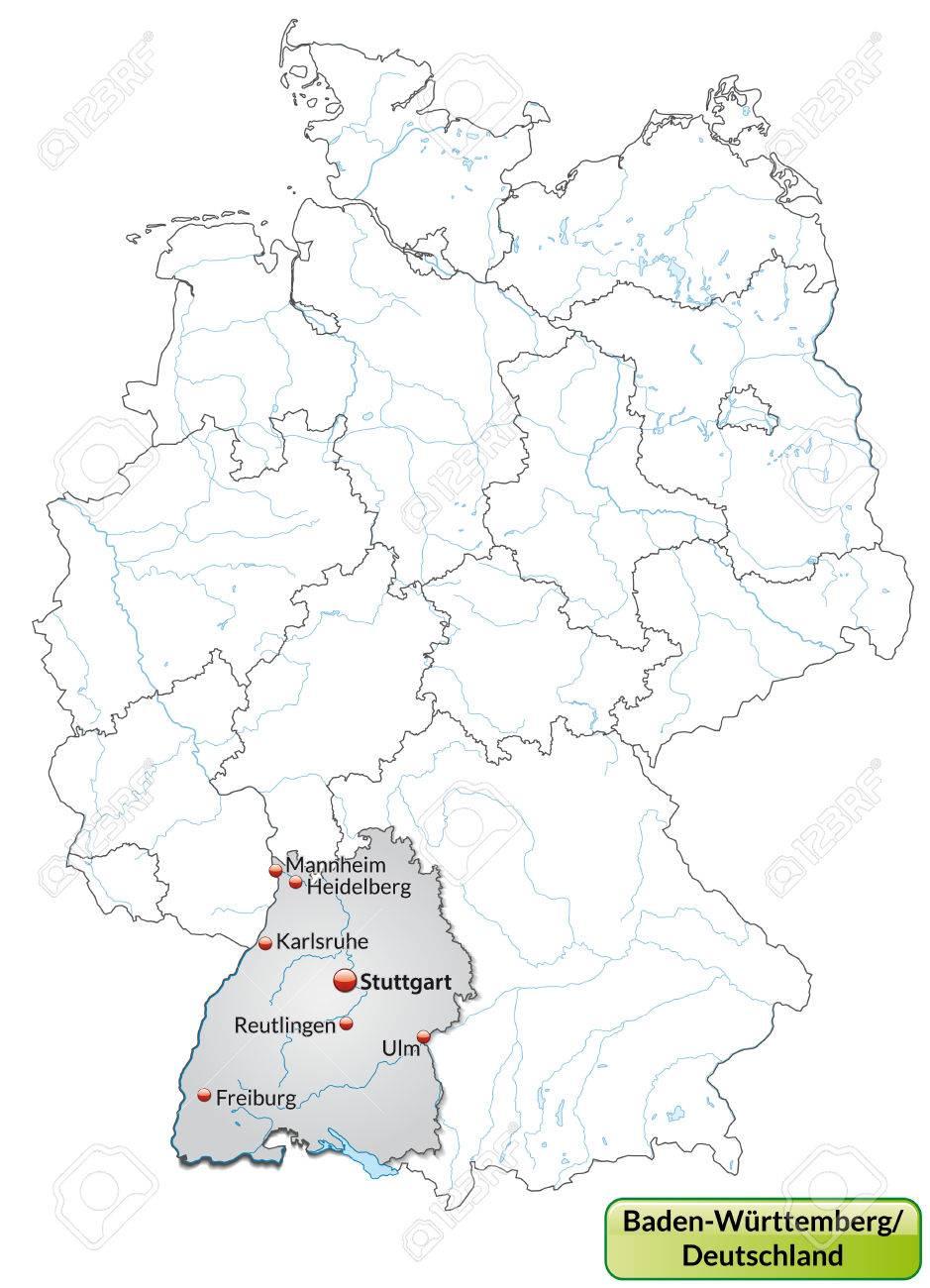 Karte baden württemberg städte in MICHELIN