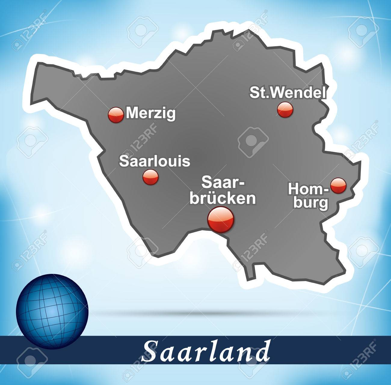 Map of Saarland with abstract background in blue Saar World Map on iran map, greece map, memel map, new zealand map, germany map, essen map, turkey map, berlin map, luxembourg map, morocco map, estonia map, albania map, saarbrucken map, oder map, rhineland map, tunisia map, trieste map, japan map, northern epirus map, poland map,