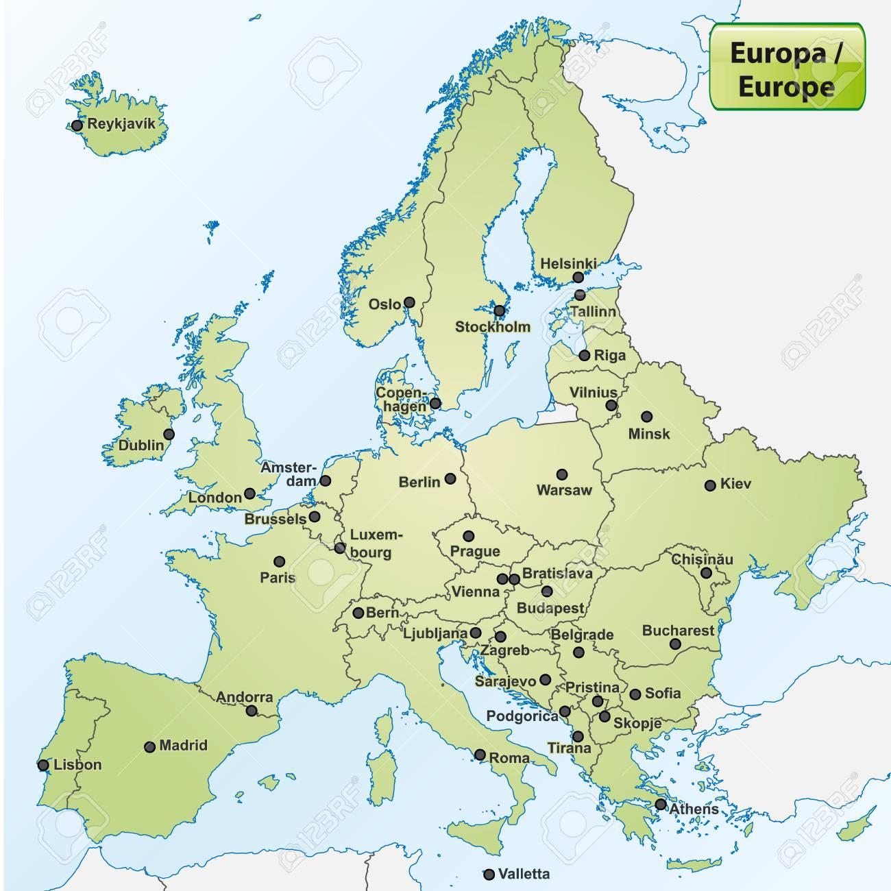 Alle hauptstädte europas