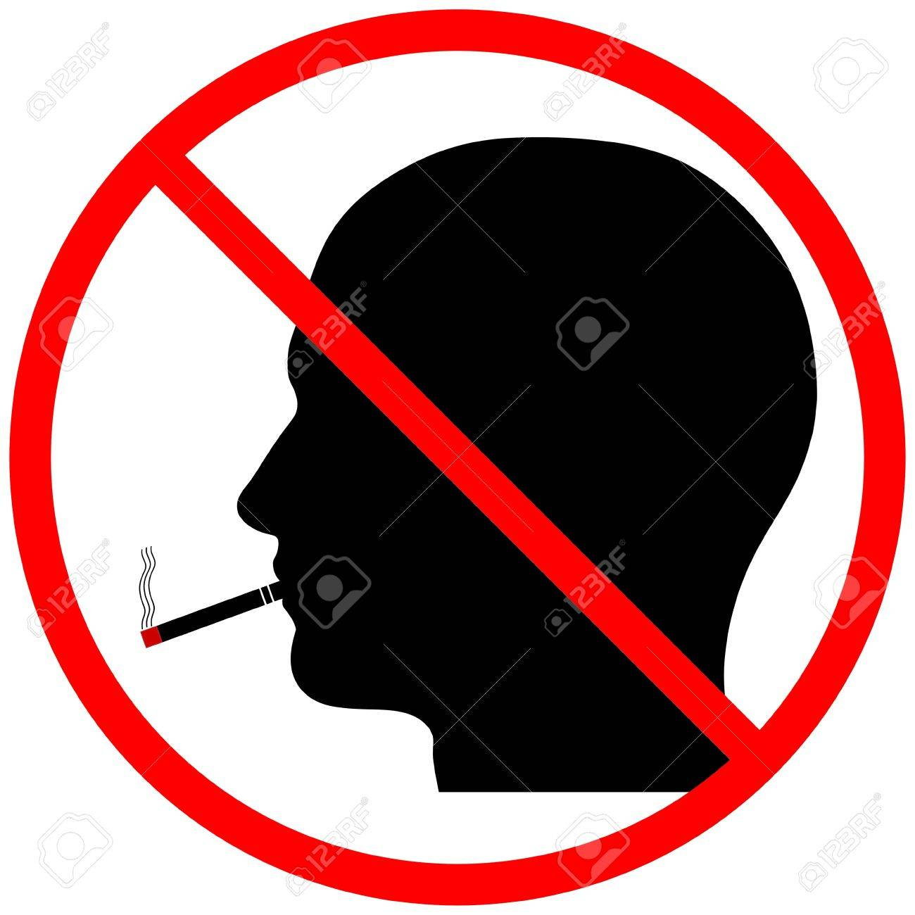 A graphic warning that smoking is prohibited, isolated on a solid white background Stock Photo - 13612820