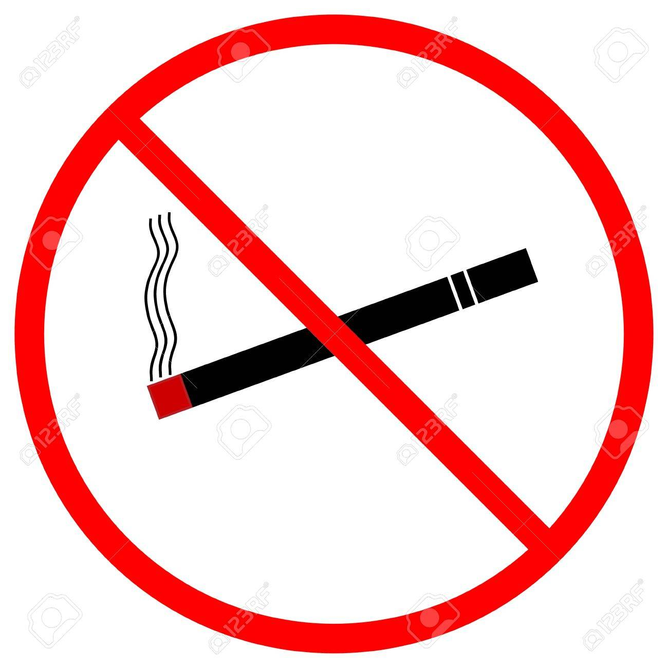 A graphic warning that smoking is prohibited, isolated on a solid white background - 13612819
