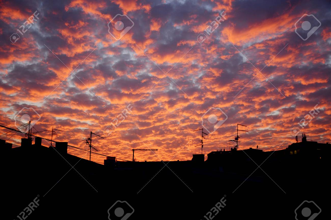sunset clouds over dark horizon stock photo picture and royalty free image image 100940452 123rf com