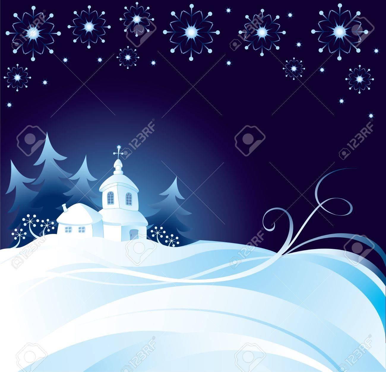 Christmas night background Stock Vector - 10654846