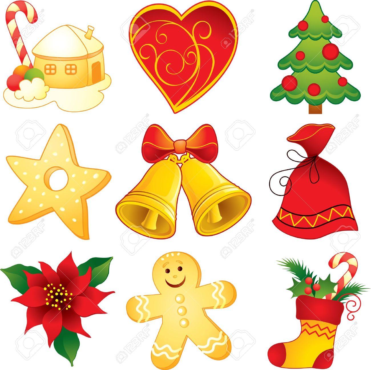 Symbole De Noel Symboles De Noël Clip Art Libres De Droits , Vecteurs Et