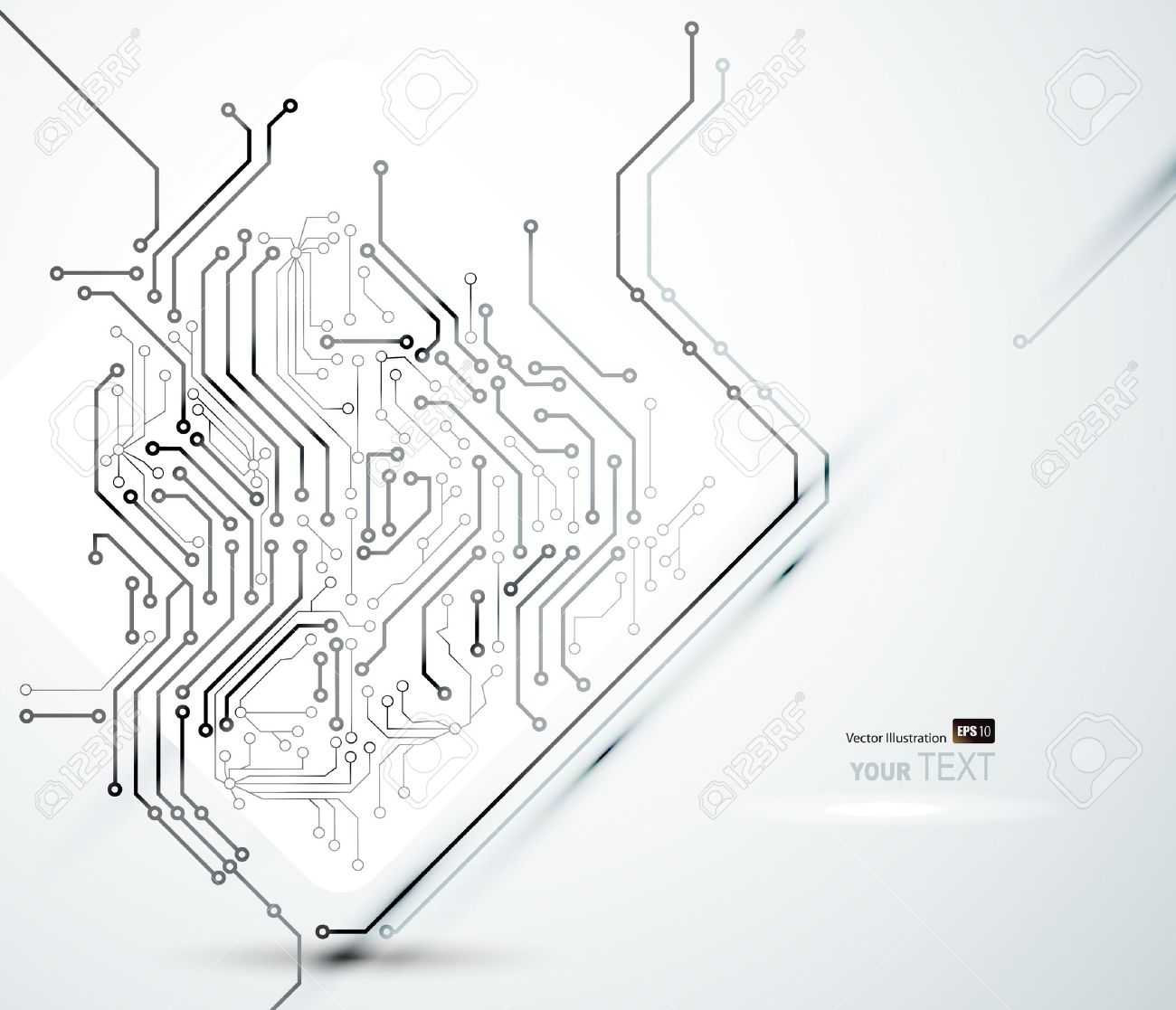 White Abstract background of digital technologies - 14226453
