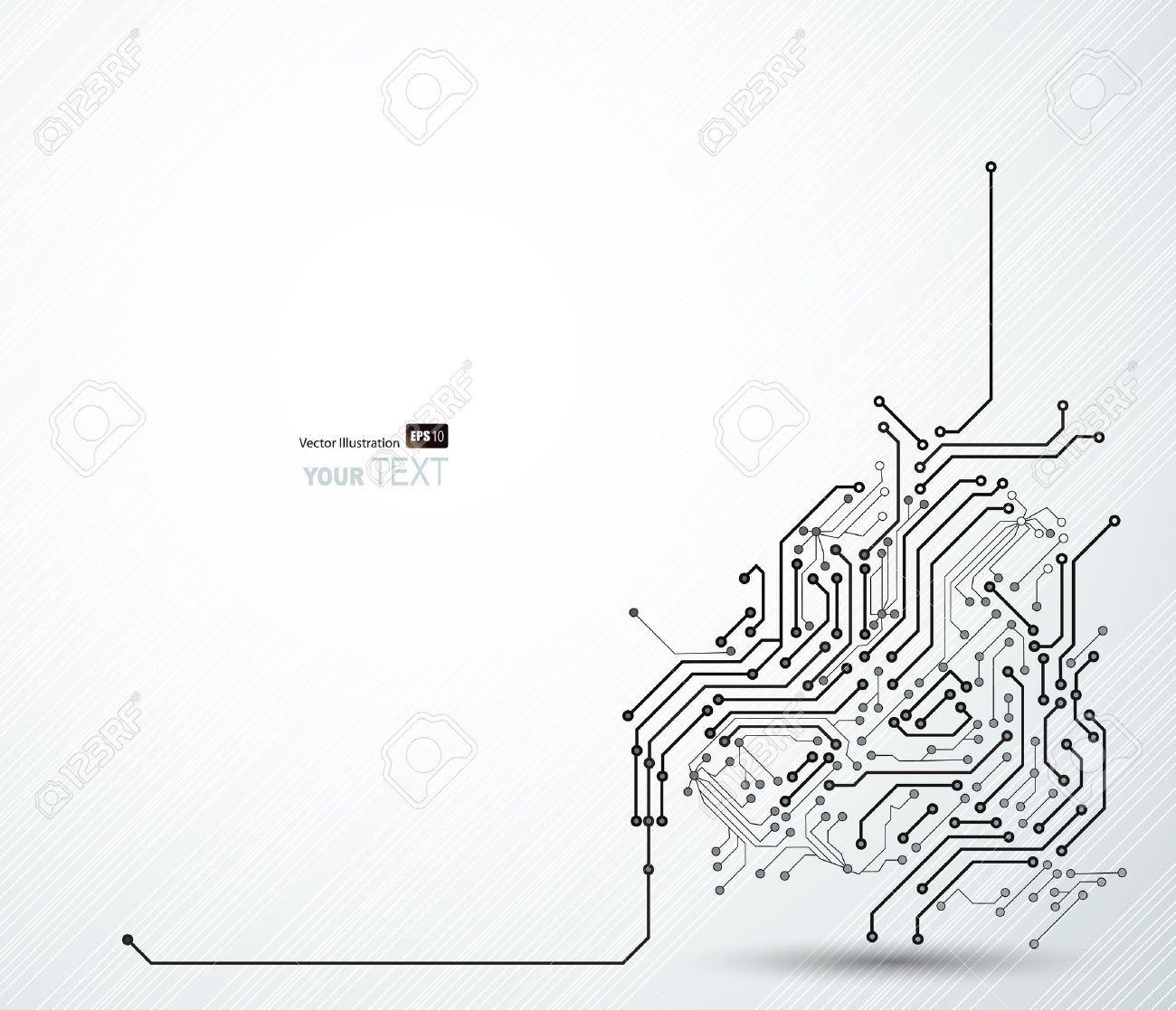 Abstract background of digital technologies - 14226455