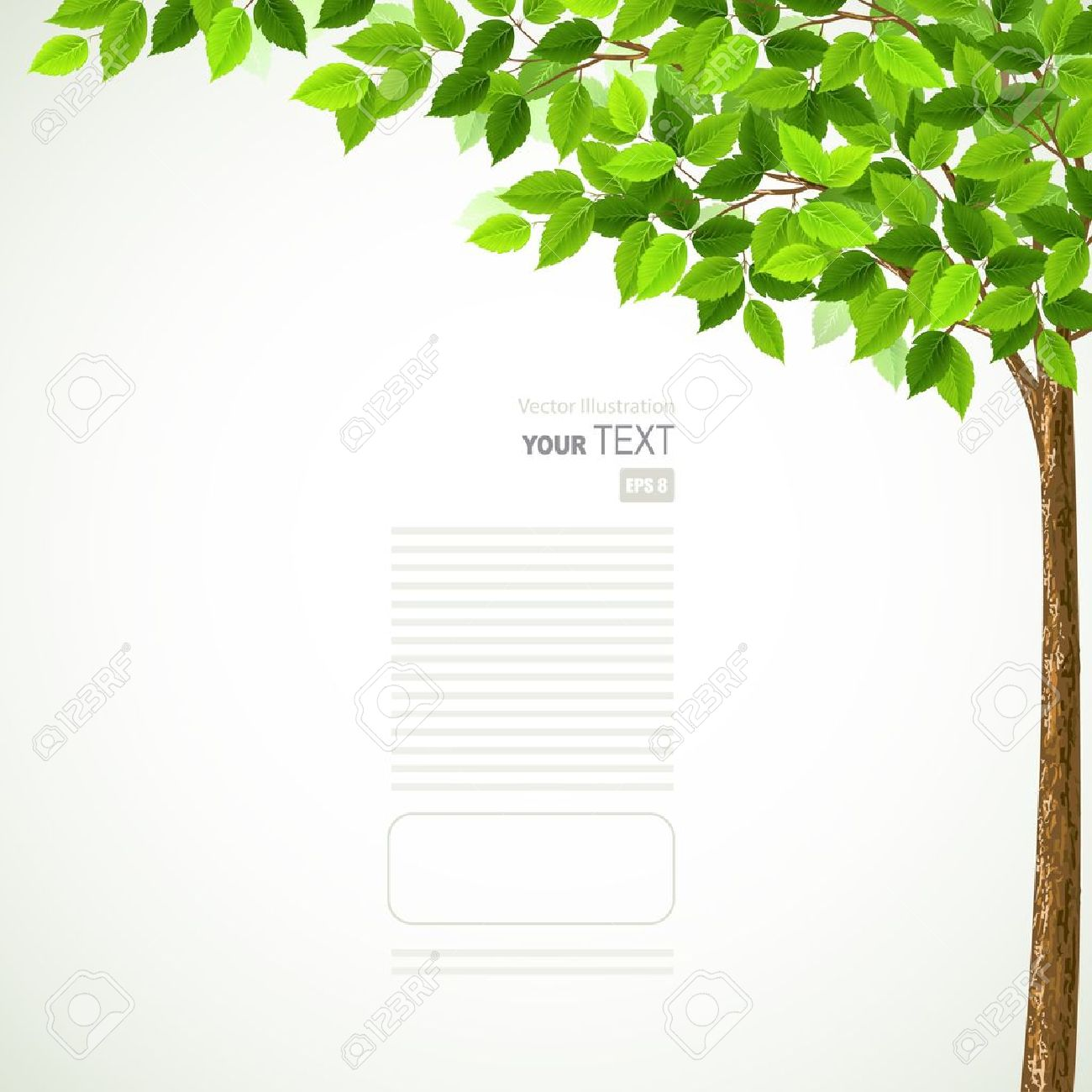 Season tree with green leaves Stock Vector - 14226464