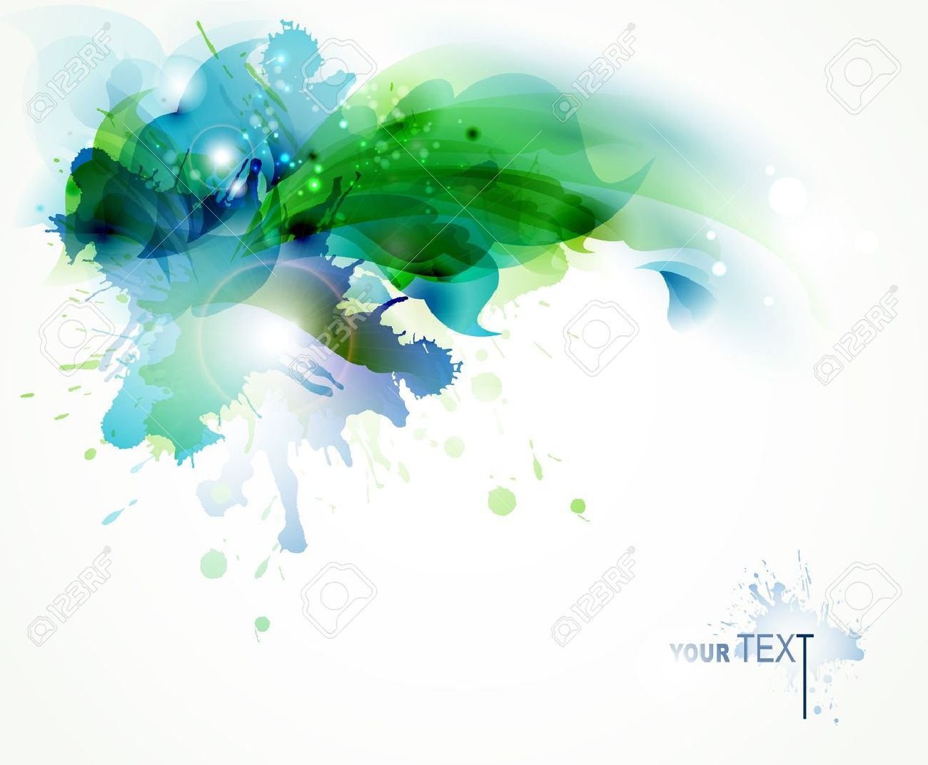 Abstract Background With Blue And Green Blots Royalty Free ...