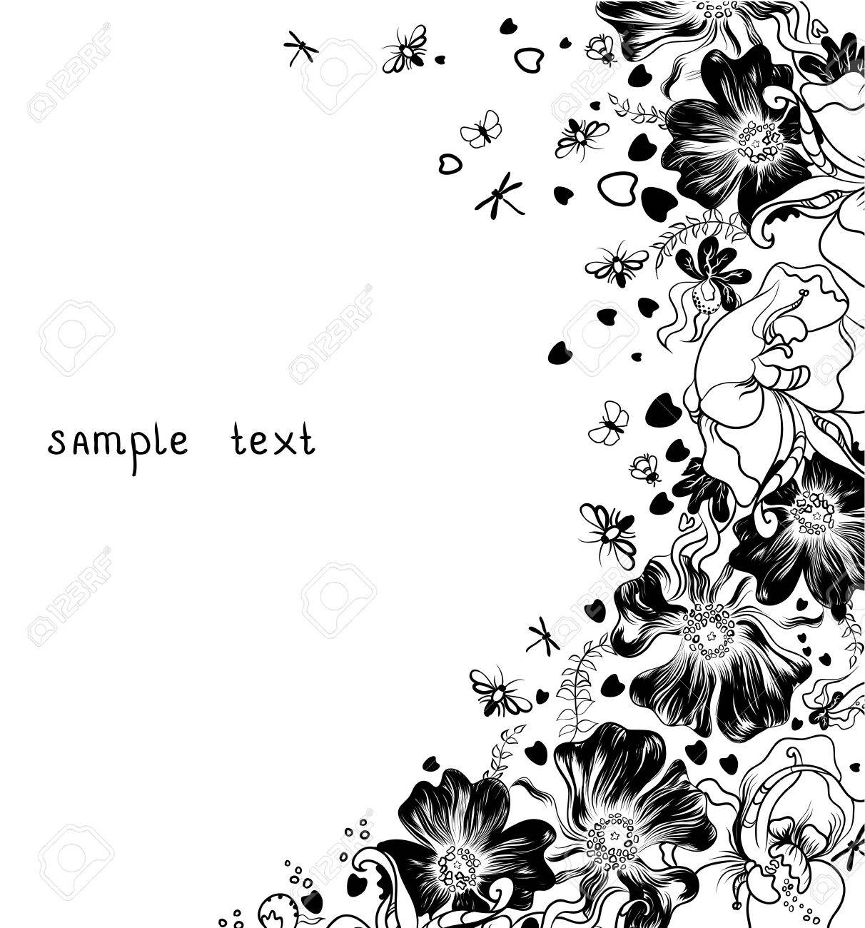 hand drawn decorative flowers Stock Vector - 14548538