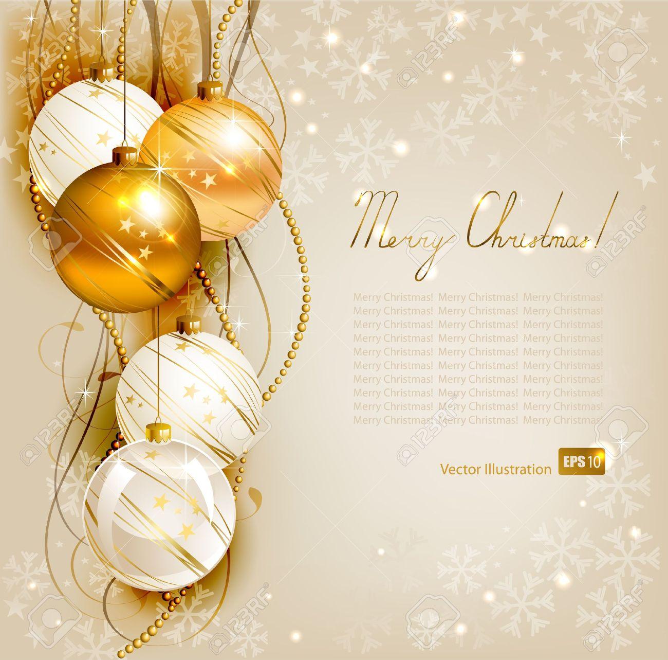 Elegant Christmas Background Images.Elegant Christmas Background With Gold And White Evening Balls