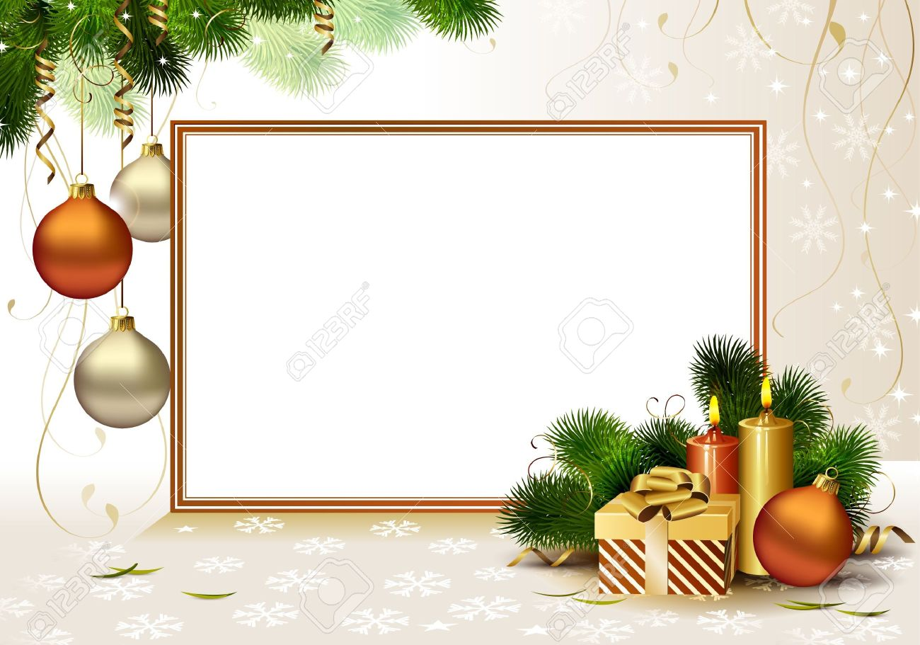 Licht Weihnachtsgruß-Karte Mit Brennenden Kerzen Und ...