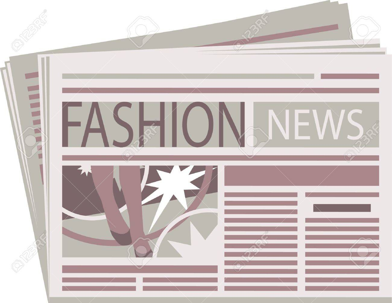 Fashion Newspaper Stock Vector - 15365529