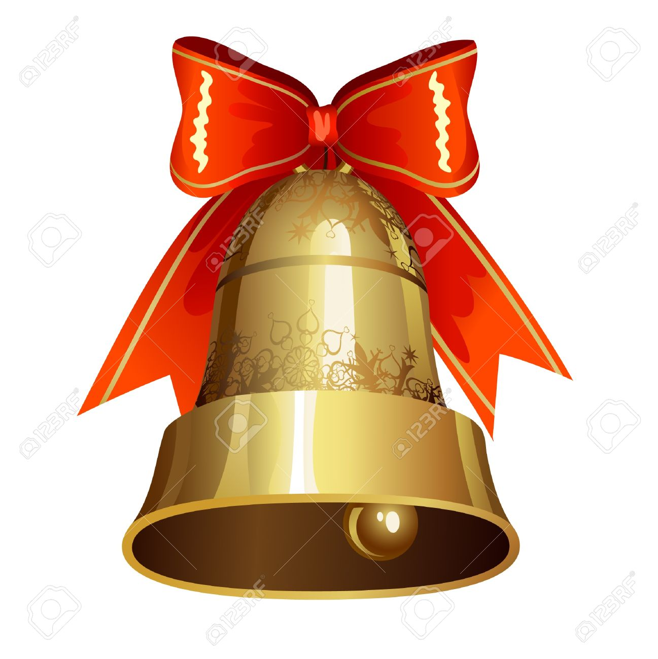 Christmas Decoration With Ringing Bell Royalty Free Cliparts ...