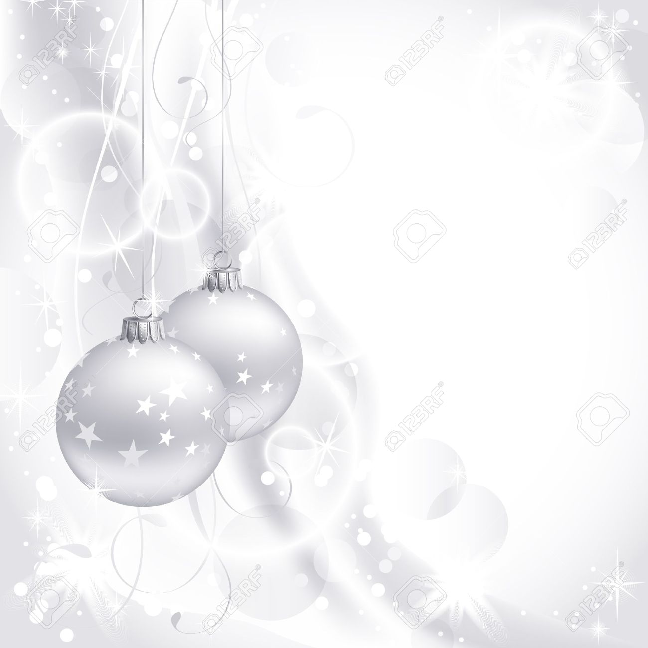 White Christmas Images Free.Good Looking White Christmas Backdrop With Two Balls