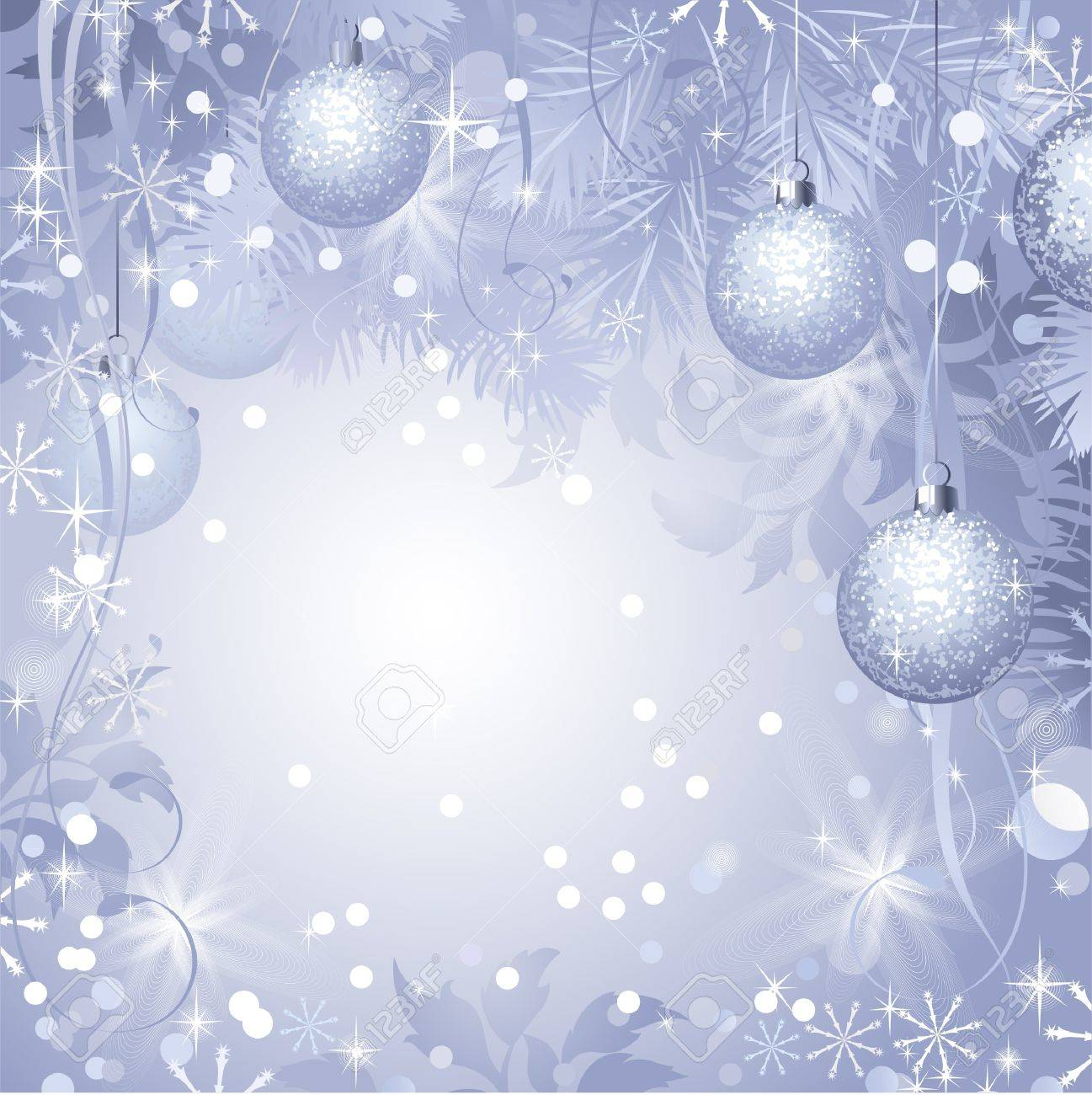 Christmas evening balls hanging from fir-tree Stock Vector - 15358524