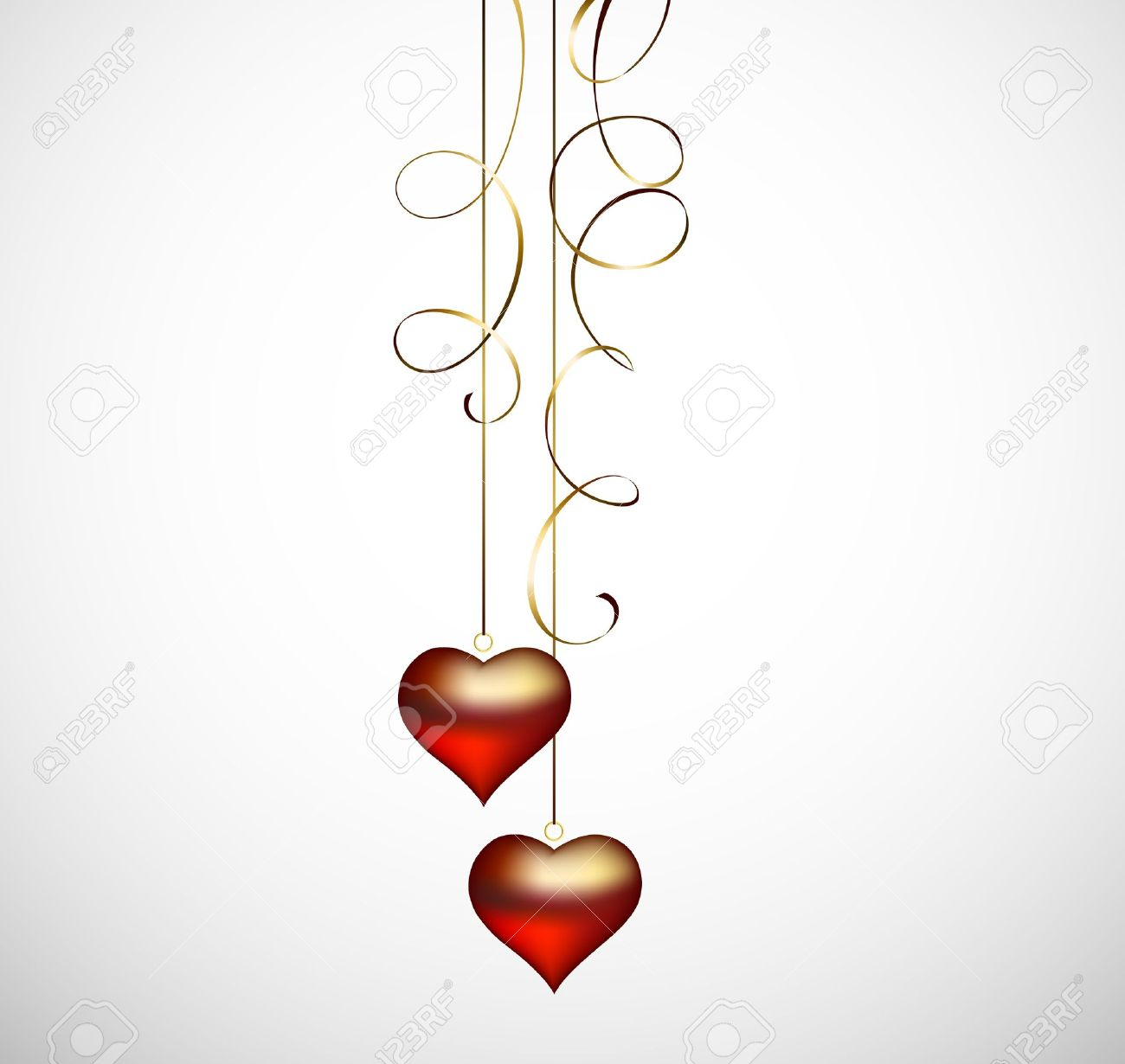 two hanging hearts Stock Vector - 15339182