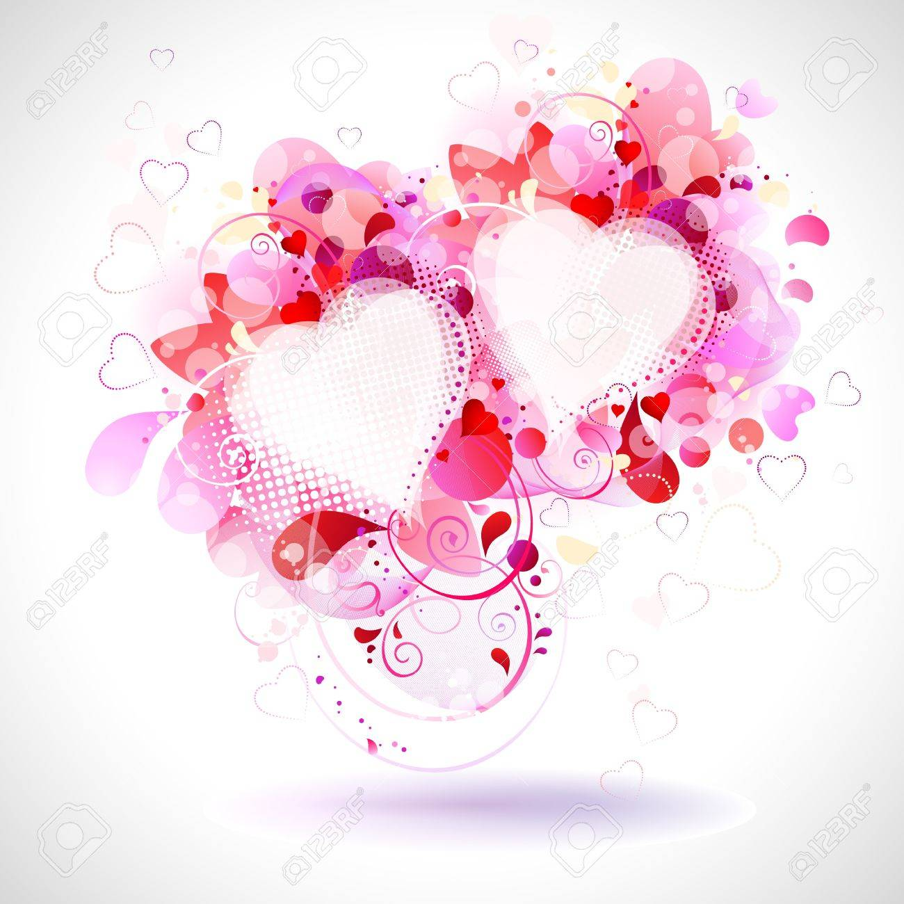 Frame Of Two Hearts Royalty Free Cliparts, Vectors, And Stock ...