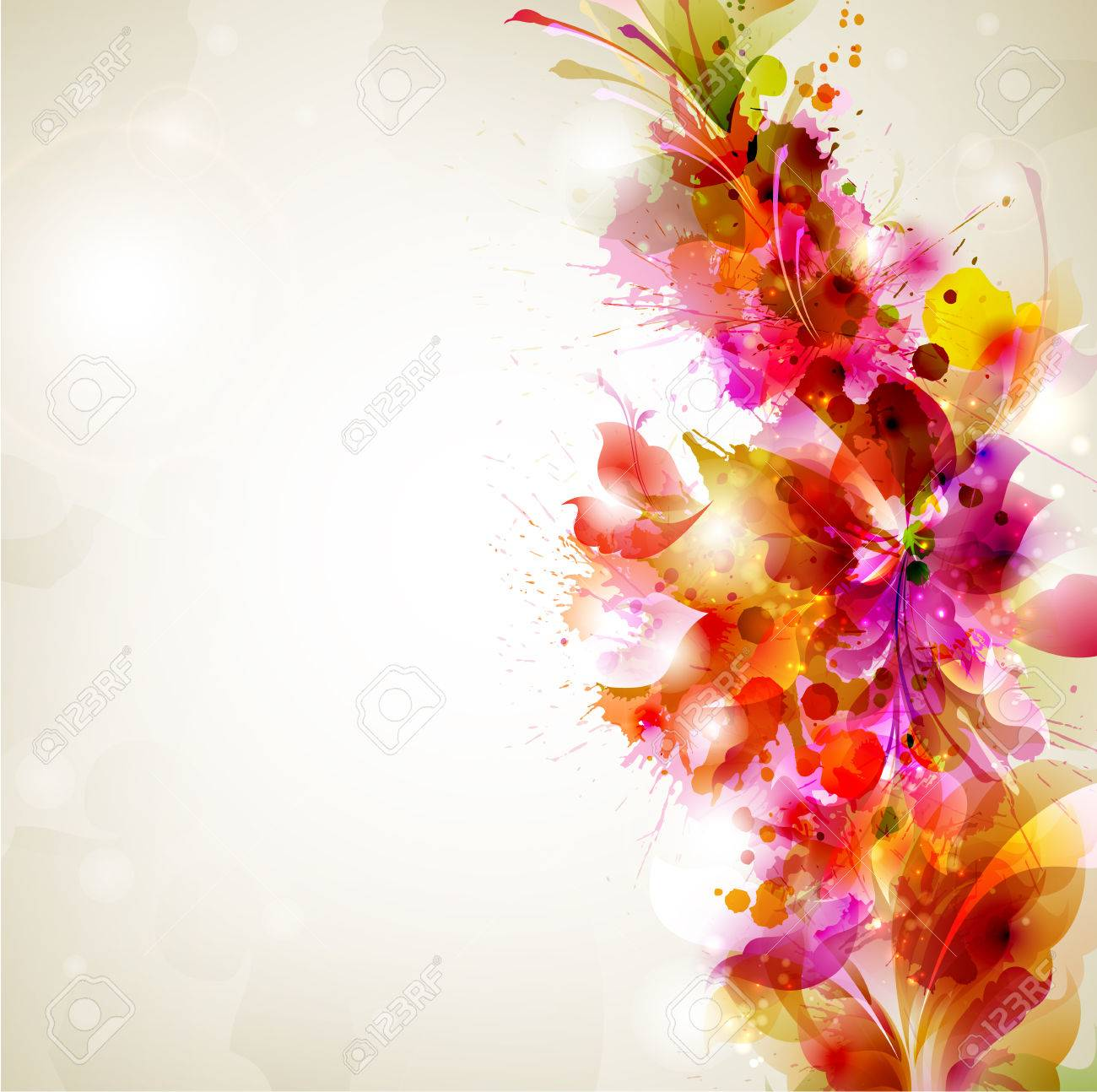 Abstract background with flower and design elements Stock Vector - 25203382