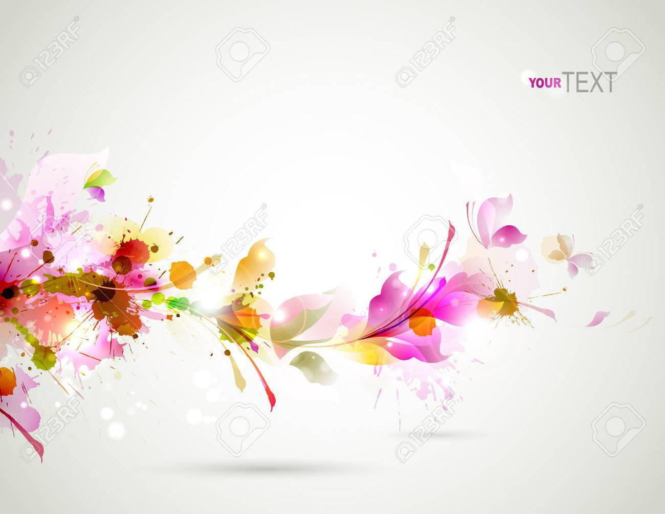 Abstract background with branch of floral Stock Vector - 25183672