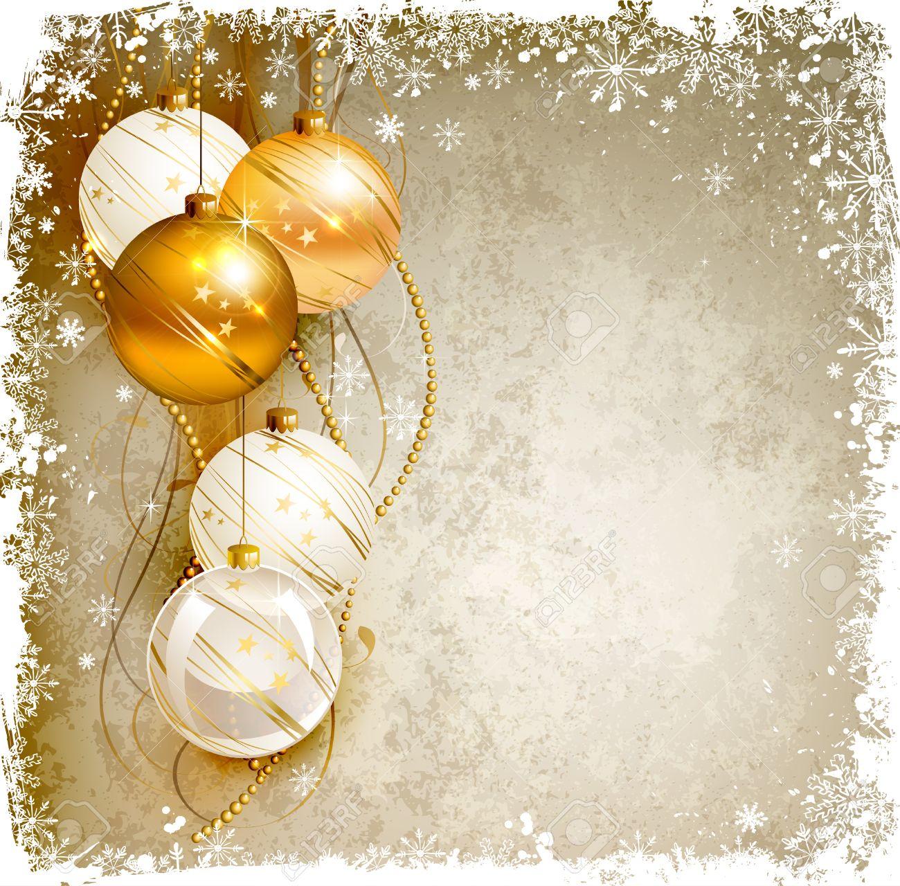 Elegant Christmas Background Images.Elegant Christmas Background With Gold And White Evening Baubles