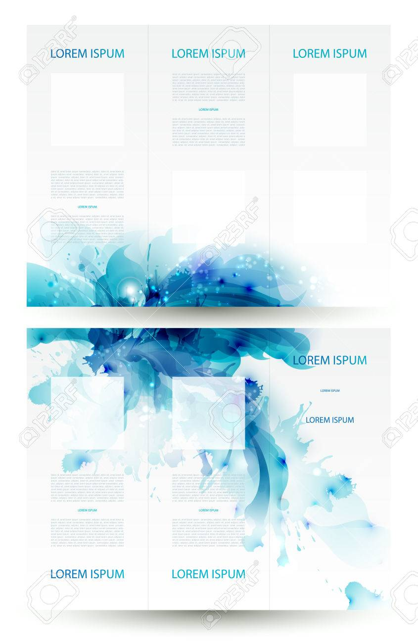Brochure backgrounds with Abstract blue elements Stock Vector - 25161670