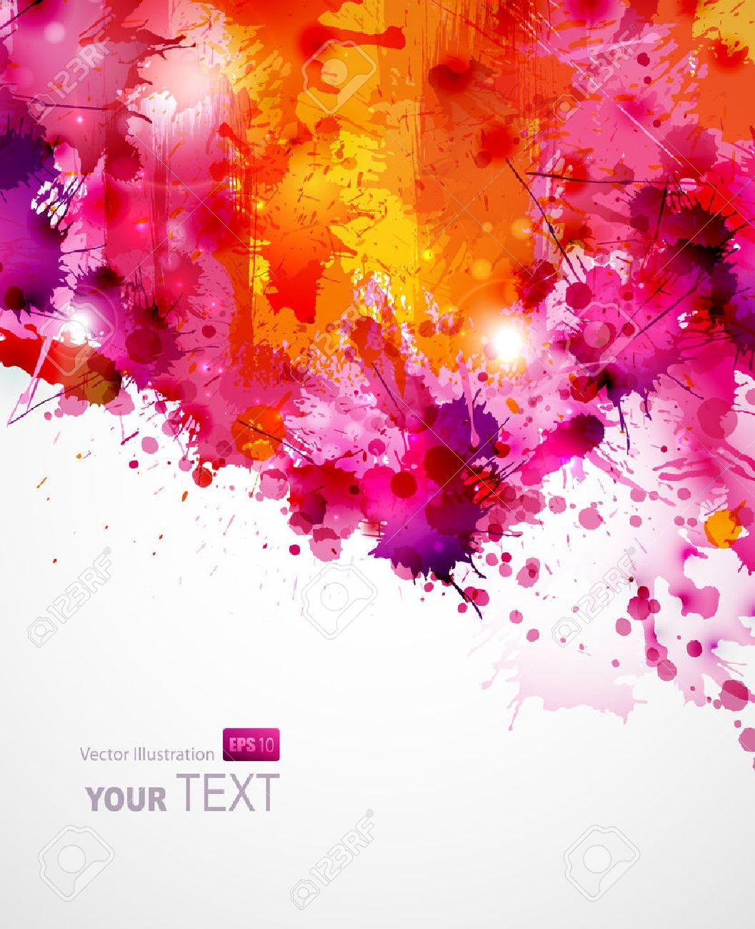 Abstract artistic Background of bright colors Stock Vector - 25161569
