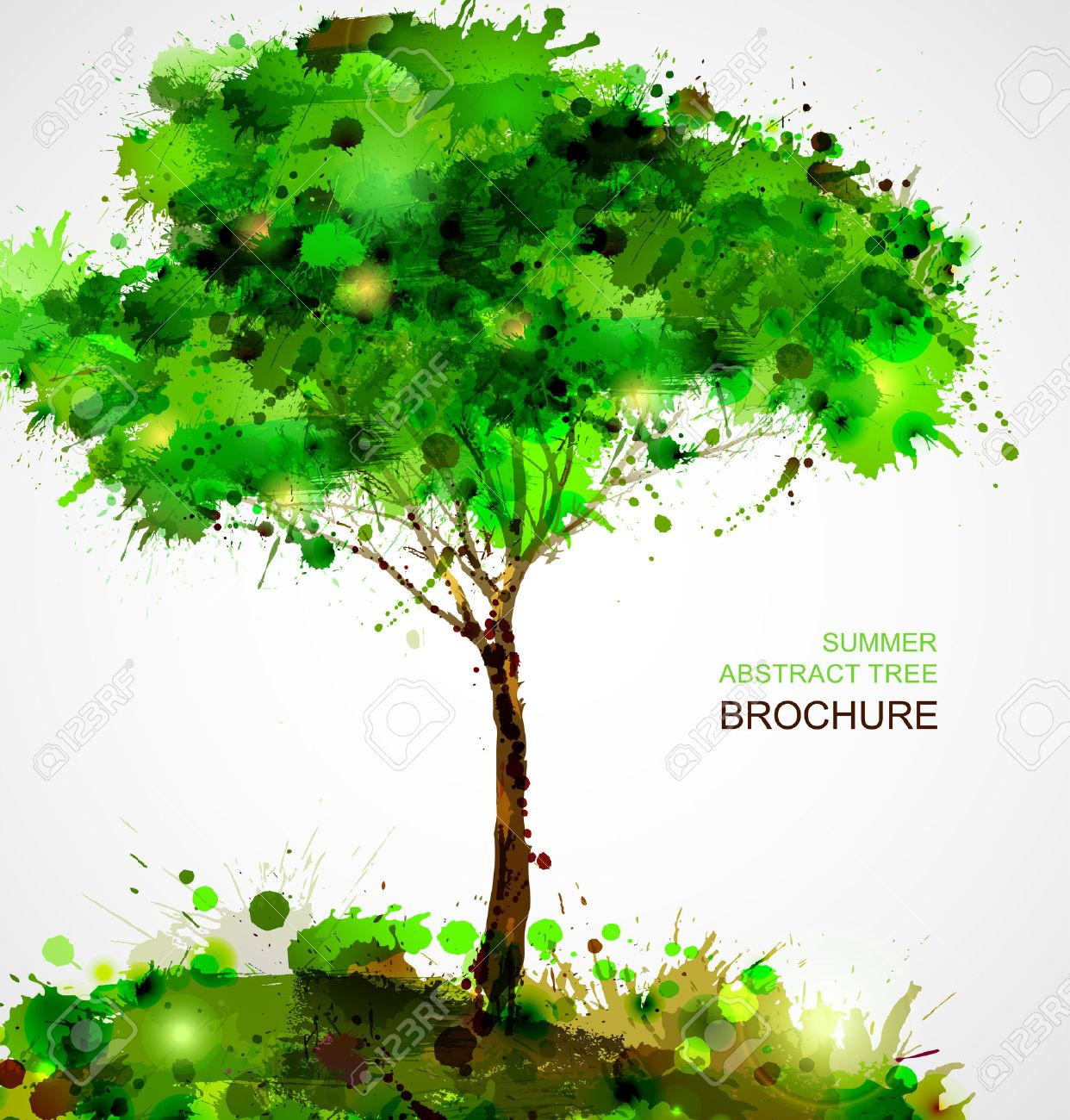 Green abstract tree forming by blots Stock Vector - 25161574