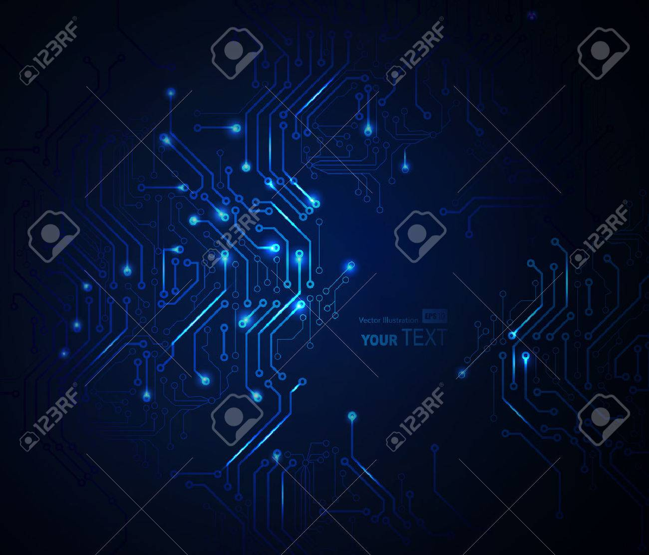 Circuit Board Stock Photos Royalty Free Images Electronic Repair Field Service Blue Abstract Background Of Digital Technologies