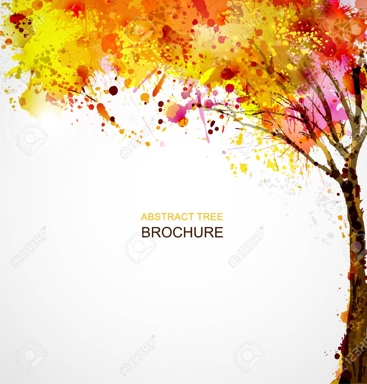 autumn abstract tree forming by blots Stock Vector - 25161344