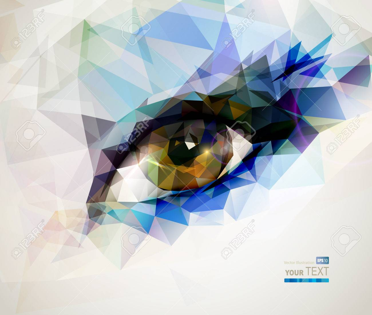 female eye created from polygons Stock Vector - 25497559